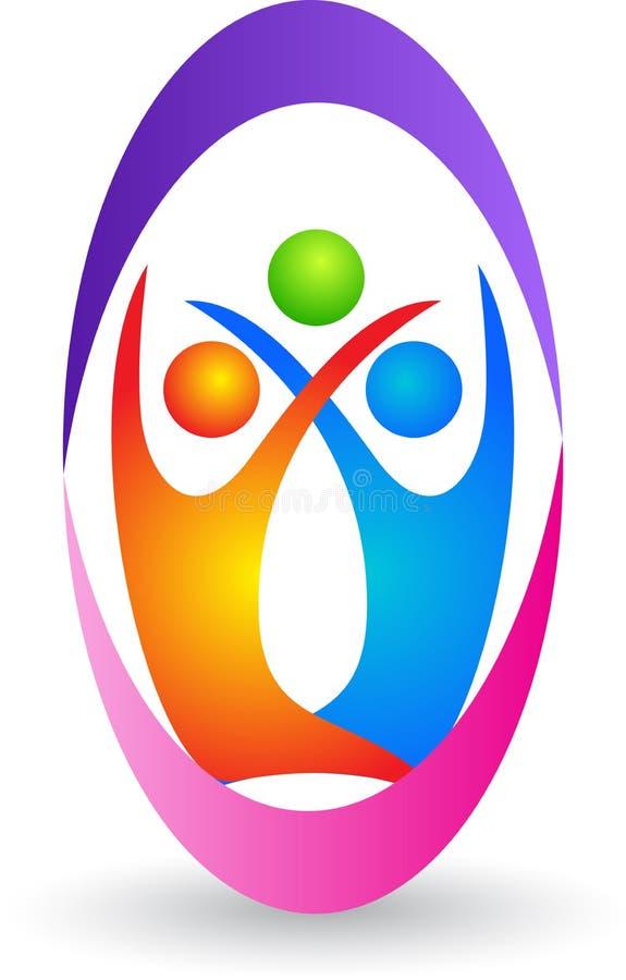 Rodzinny logo royalty ilustracja