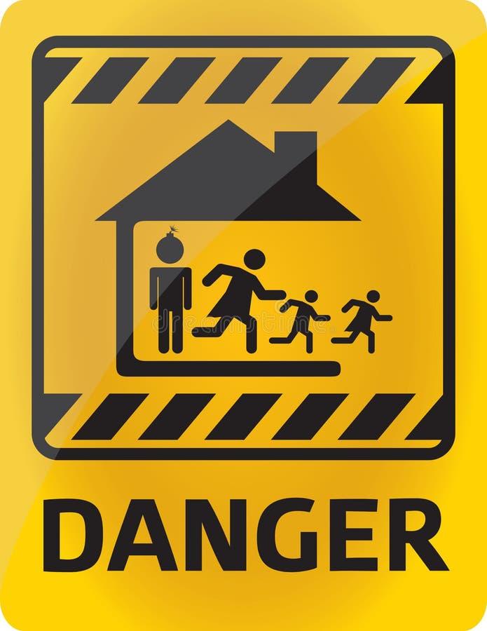 Rodzinny niebezpieczeństwo ilustracja wektor