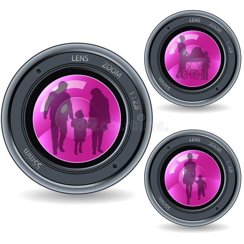 rodzinny obiektyw fotografia stock