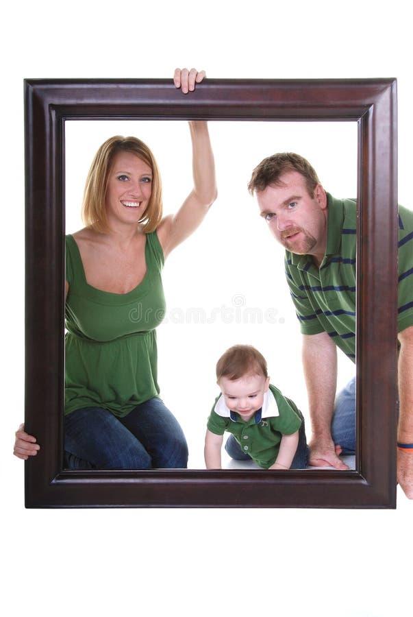rodzinny obrazek zdjęcia stock
