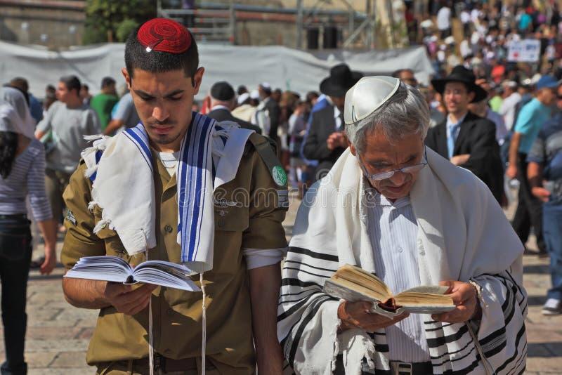 rodzinny ojciec jego żydowski syn zdjęcia royalty free