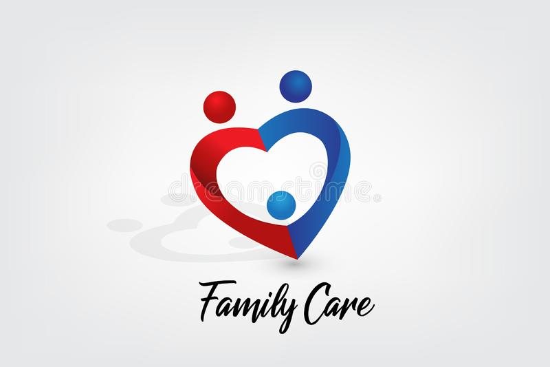 Rodzinny opieka logo ilustracja wektor