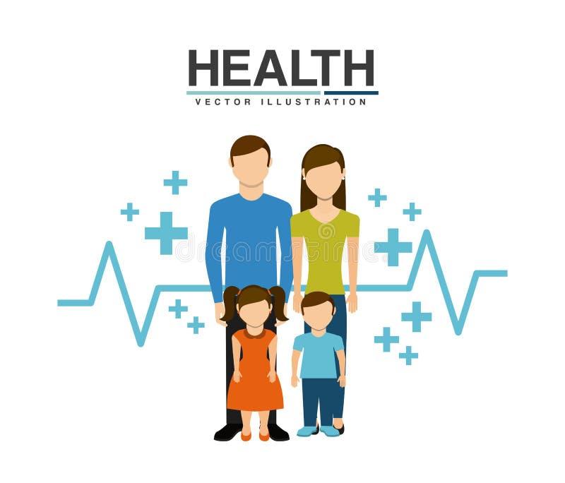 Rodzinny opieka zdrowotna projekt ilustracja wektor