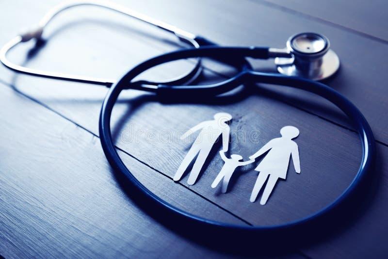 Rodzinny opieki zdrowotnej i ubezpieczenia pojęcie zdjęcie stock
