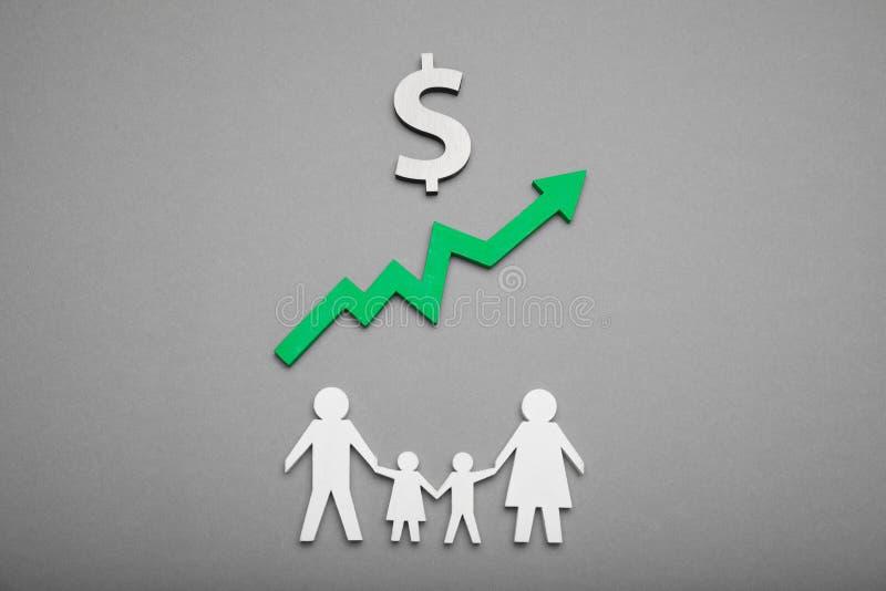 Rodzinny pieni?dze dolara przyrost Deponowa? pieni?dze got?wk?, waluty depozytowy poj?cie zdjęcia stock