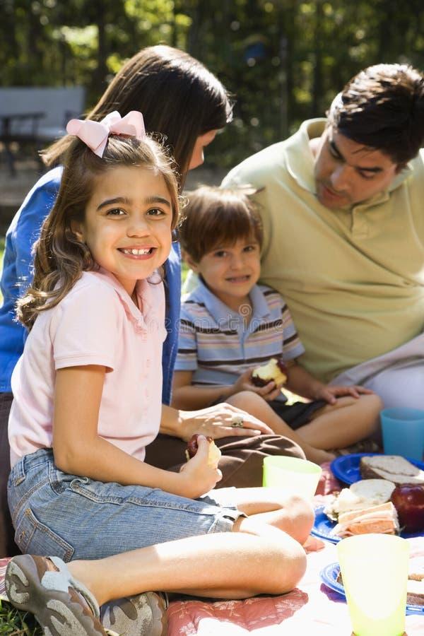 rodzinny piknik fotografia stock