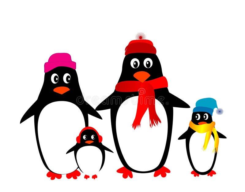 rodzinny pingwin ilustracja wektor