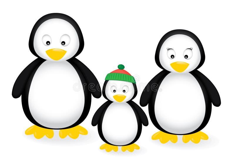 rodzinny pingwin ilustracji