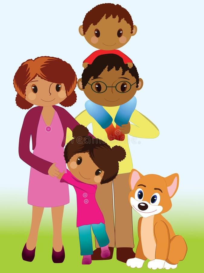 rodzinny portret royalty ilustracja