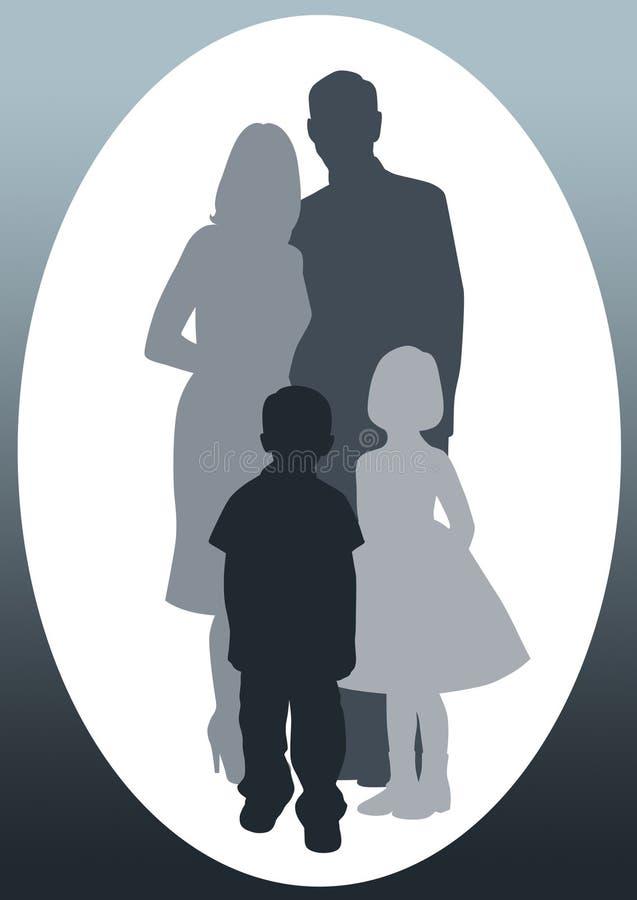 rodzinny portret ilustracja wektor