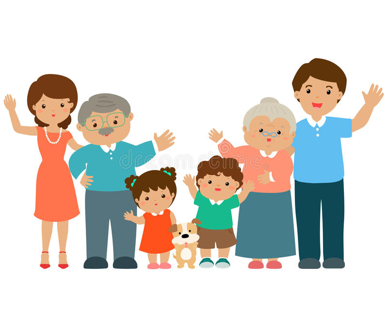 Rodzinny postać z kreskówki royalty ilustracja