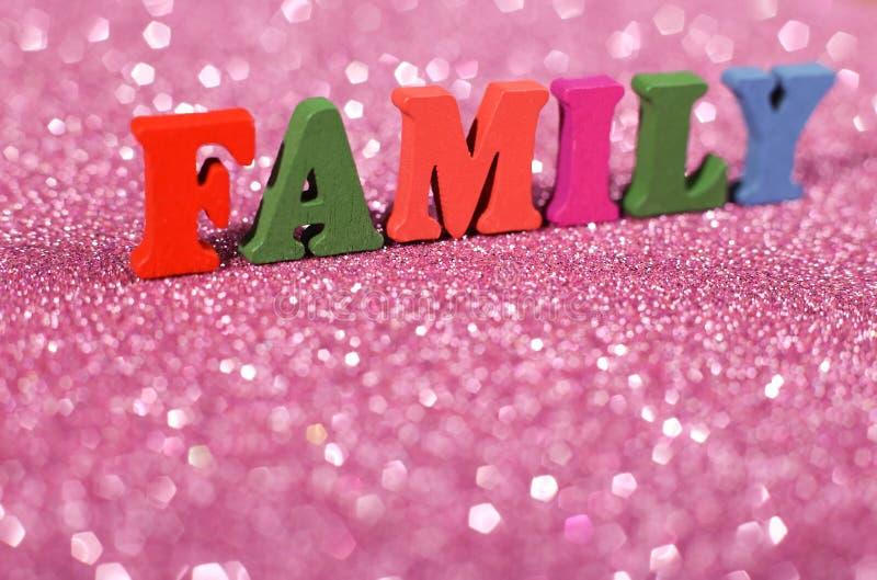 Rodzinny słowa pojęcie obrazy stock