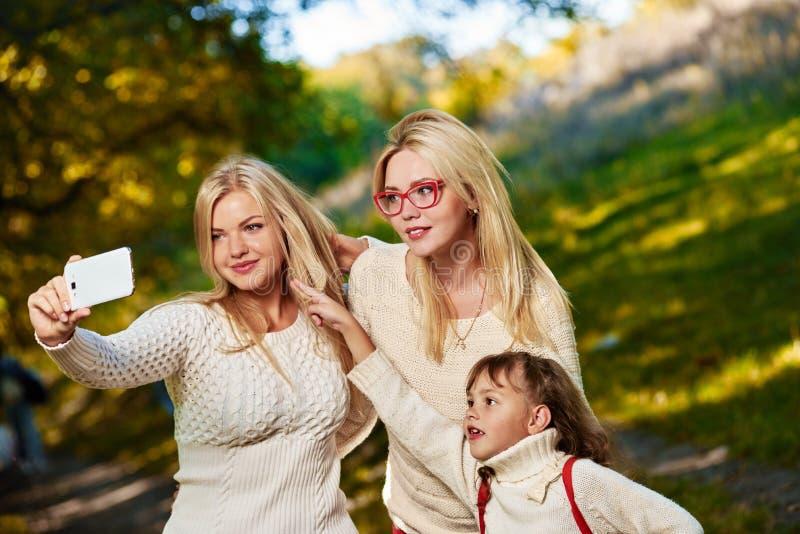 Rodzinny selfie w parku obrazy royalty free