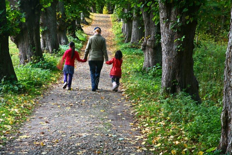 Rodzinny spacer fotografia stock