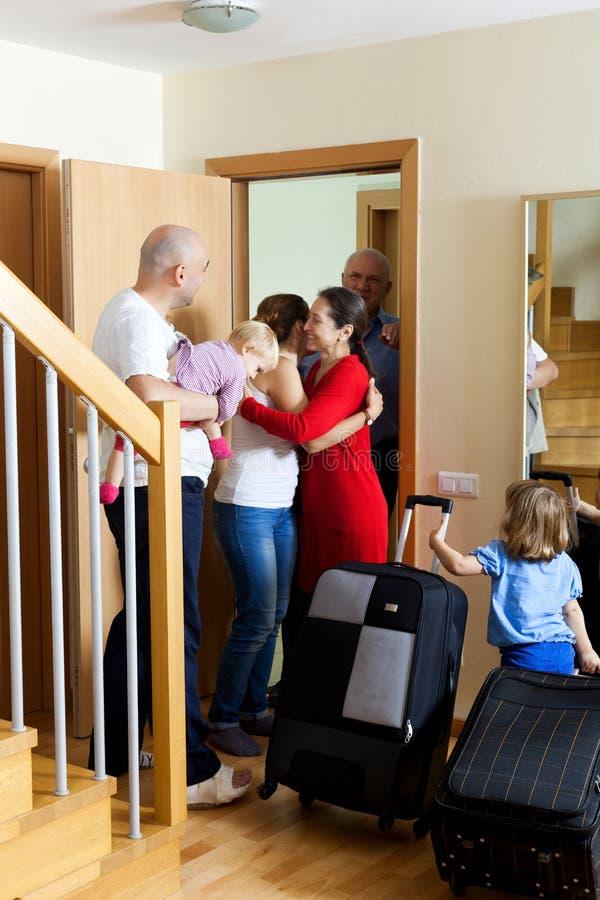 rodzinny spotkanie zdjęcie royalty free