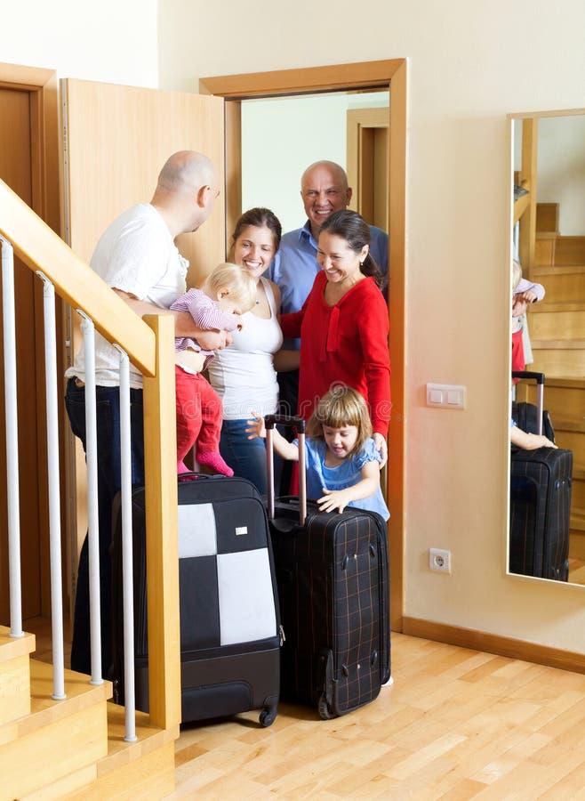 Rodzinny spotkanie zdjęcie stock
