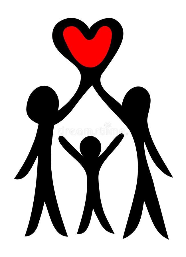 Download Rodzinny symbol ilustracja wektor. Obraz złożonej z emocja - 9172883