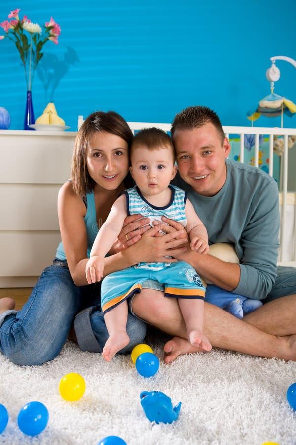 rodzinny szczęśliwy dom obrazy royalty free