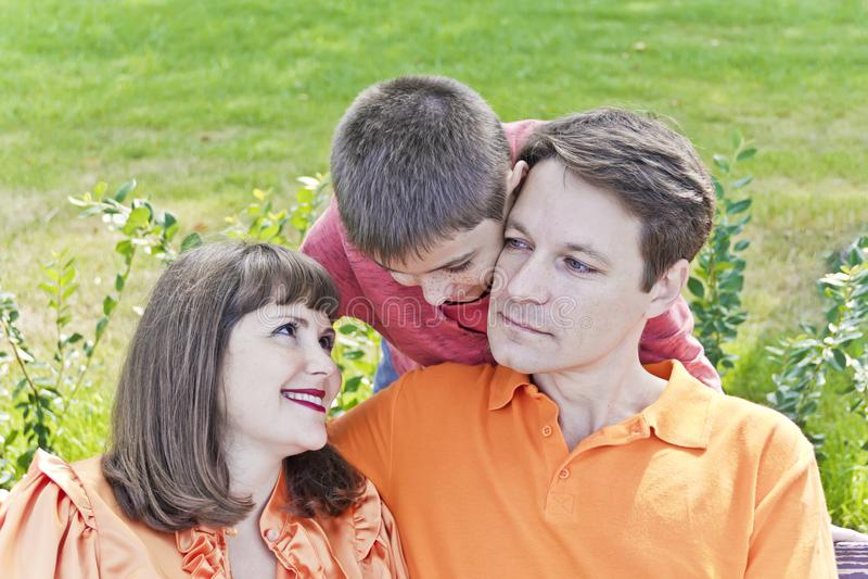 rodzinny szczęśliwy lato obrazy royalty free