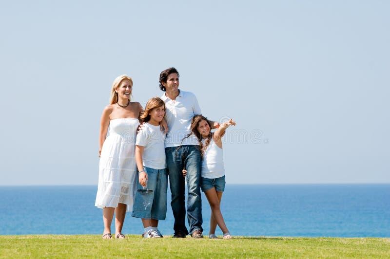 rodzinny szczęśliwy portret obraz stock
