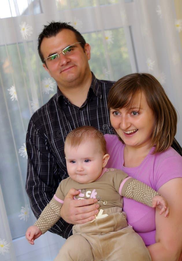 rodzinny szczęśliwy portret obrazy royalty free