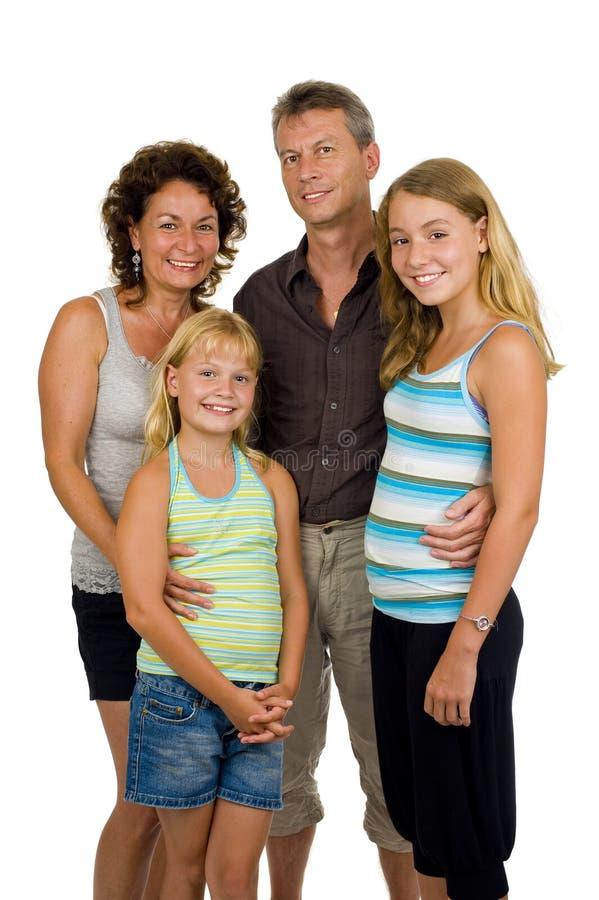 rodzinny szczęśliwy studio zdjęcie stock