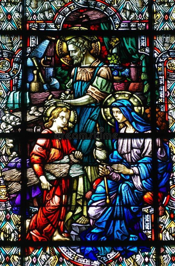 rodzinny szklany święty pobrudzony obraz royalty free