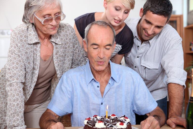 Rodzinny urodziny zdjęcia royalty free