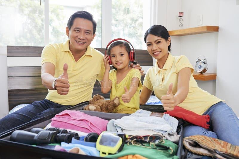 Rodzinny wakacje letni fotografia royalty free