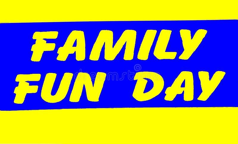 Rodzinny zabawa dnia znak zdjęcia stock