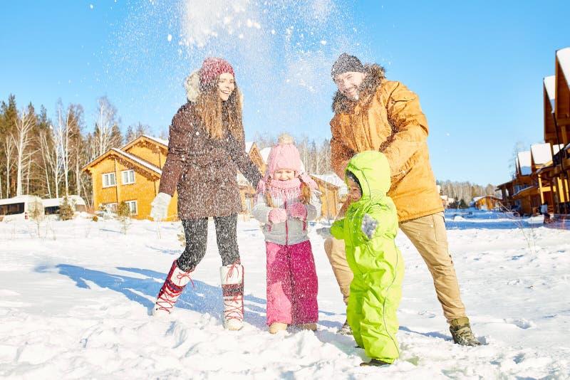 Rodzinny zima weekend w wsi fotografia royalty free