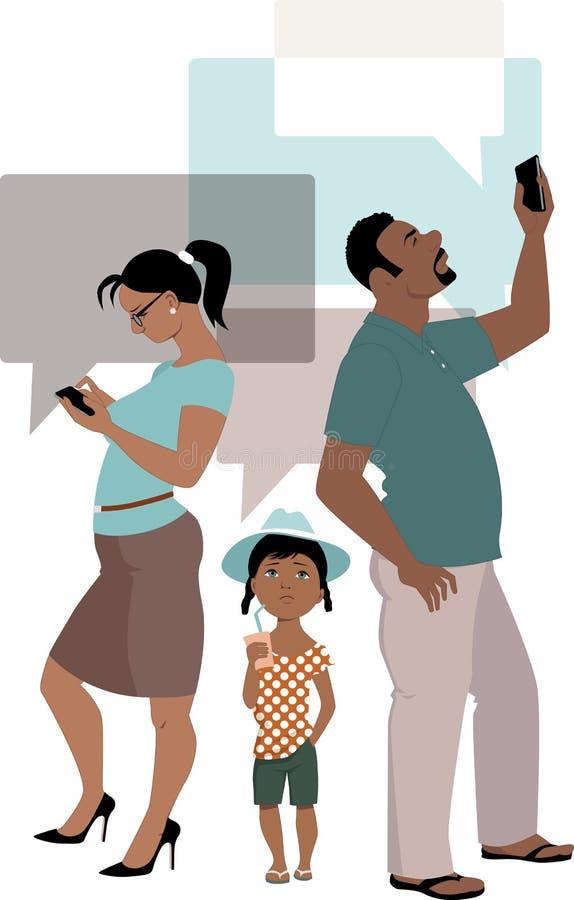 Rodzinny związek royalty ilustracja