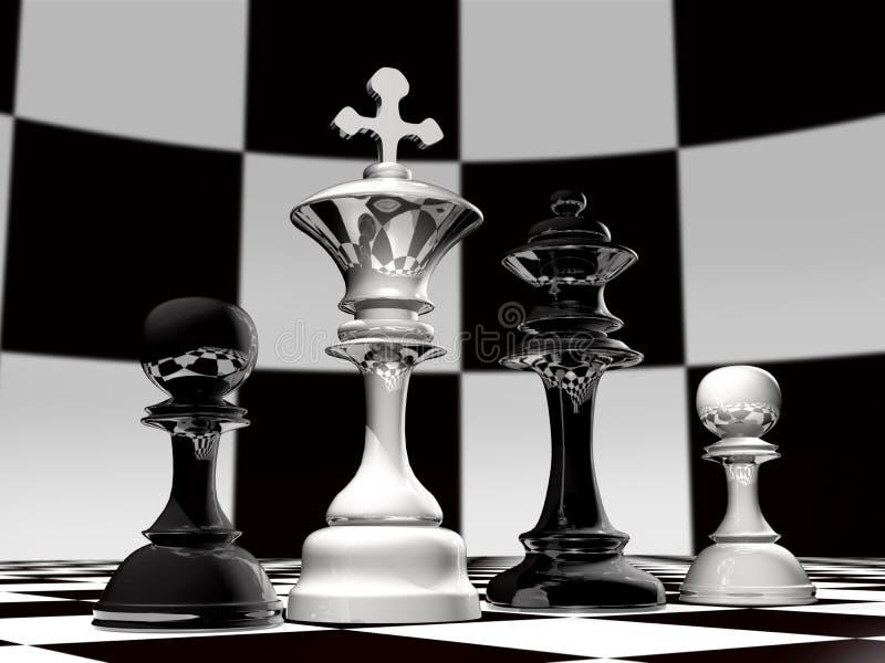 rodziny chess royalty ilustracja