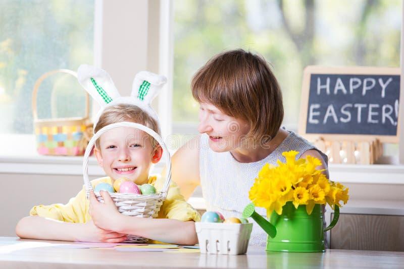Rodziny Easter czas fotografia royalty free