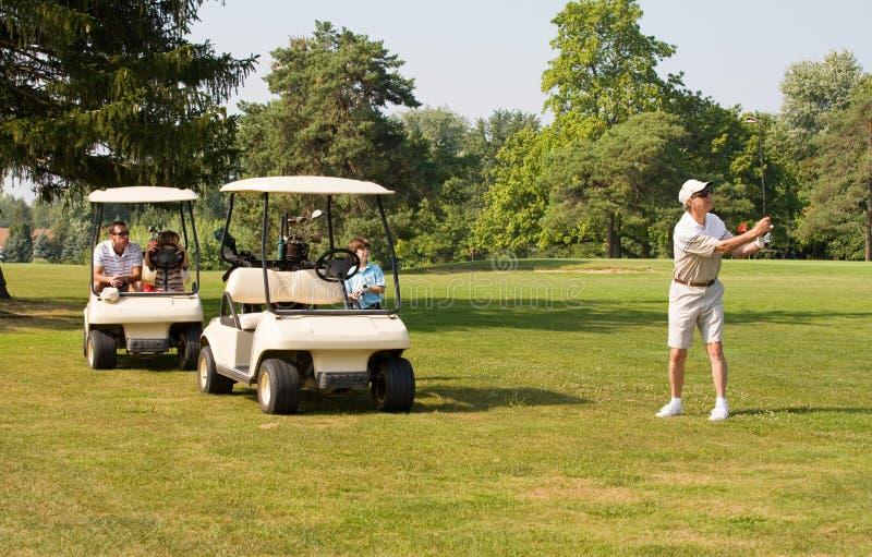 rodziny golfa bawić się fotografia royalty free