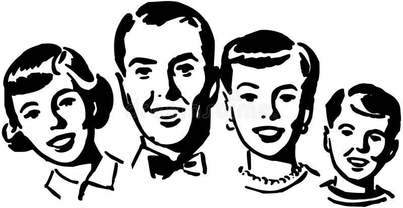 Rodziny grupa royalty ilustracja