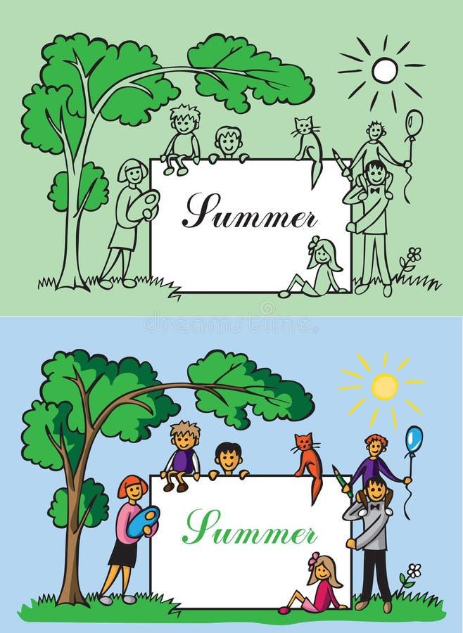 Rodziny ramowy lato royalty ilustracja