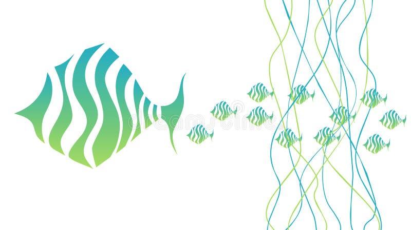 rodziny ryba ilustracja wektor