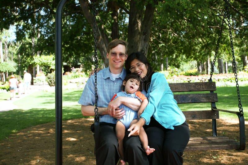 rodziny trzy uderzenia fotografia royalty free