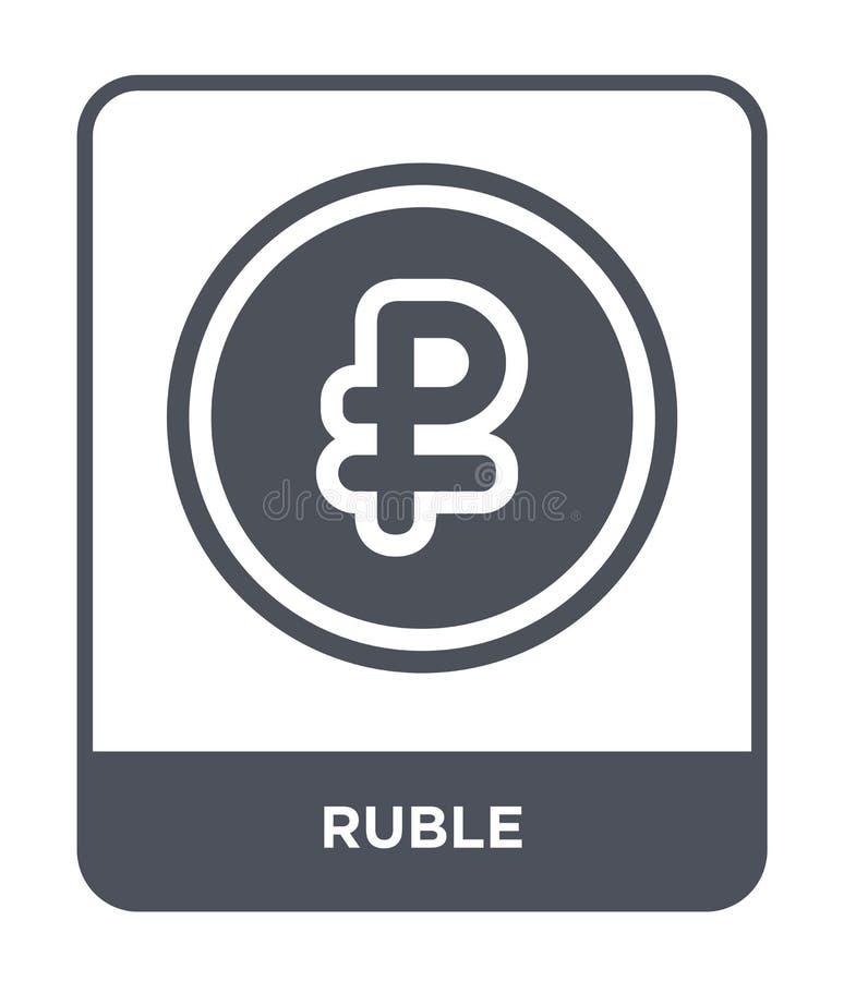 roebelpictogram in in ontwerpstijl roebelpictogram op witte achtergrond wordt geïsoleerd die eenvoudige en moderne vlakke symbool stock illustratie