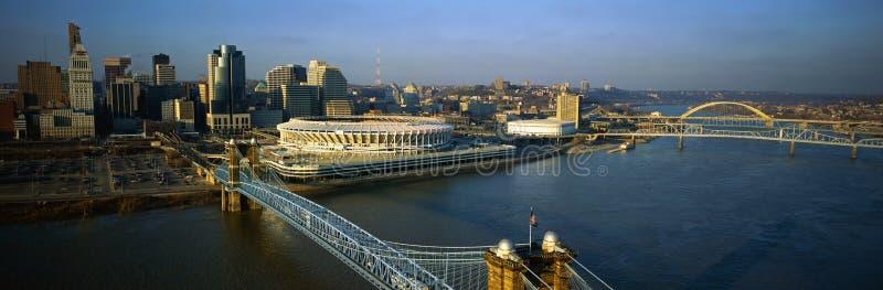 Roebling Aufhebung-Brücke stockfoto