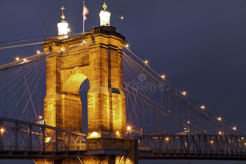 Roebling Aufhebung-Brücke lizenzfreies stockbild