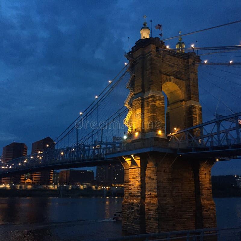 Roebling bridge stock photo