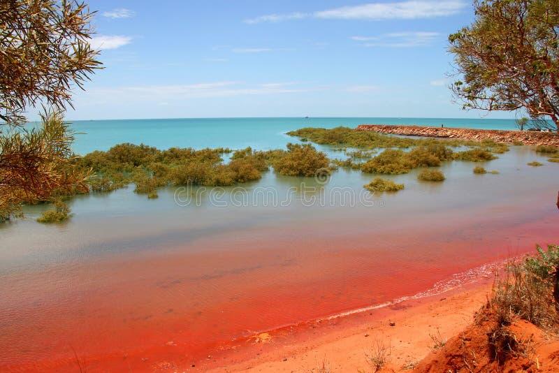Roebuck-Schacht, Broome, Australien lizenzfreies stockbild