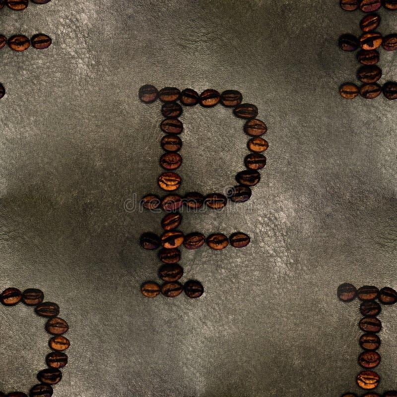 Roedel bord van koffiebonen, achtergrond, naadloos stock foto's