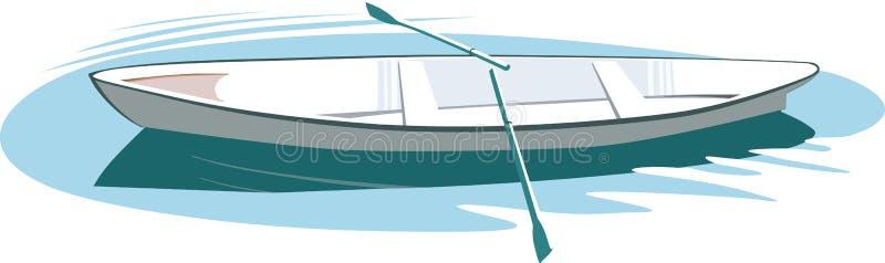 Roeiende Boot stock illustratie