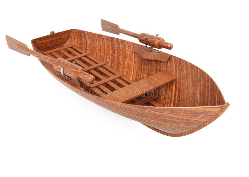 Roeiende boot vector illustratie