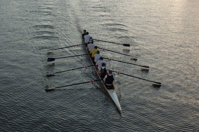 Roeiers op de rivier (ii) royalty-vrije stock foto