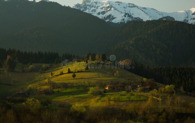 Roemeens de lentelandschap stock afbeelding