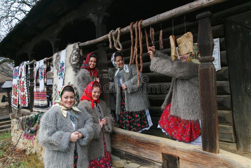 Roemeens de winterfestival in Maramures royalty-vrije stock afbeeldingen